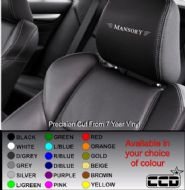 Mansory Logo Car seat Decals